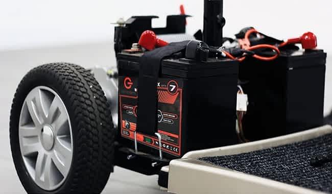 Scooter électrique PMR handicapé avec des batteries Olenergies de 77 Ah installées