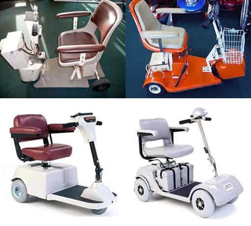 Evolution de scooters handicapés de 1980 à 2000