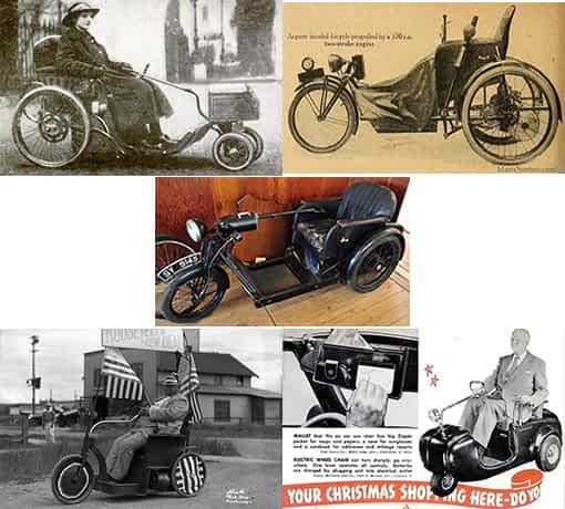 Premier tricycle motorisé Argson et le scooter handicapé motorisé de Sears, Roebuck & Co