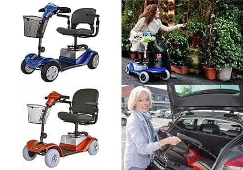 Aperçu des modèles de scooter électrique senior, pour personne handicapée et à mobilité réduite  de la catégorie démontable à 4 roues