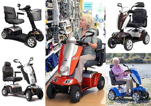 Aperçu des scooters électriques senior, pour personne handicapée et à mobilité réduite dans la catégorie Compact à 4 roues