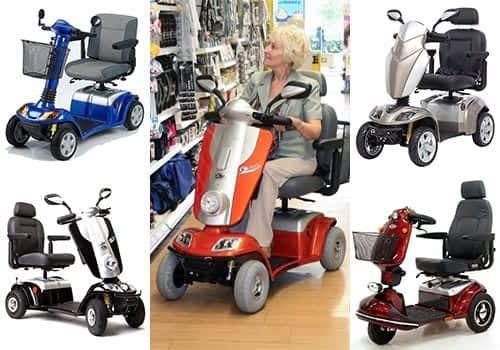 Aperçu des modèles scooter senior, pour personne handicapée et à mobilité réduite dans la catégorie Compact avec 3 et 4 roues