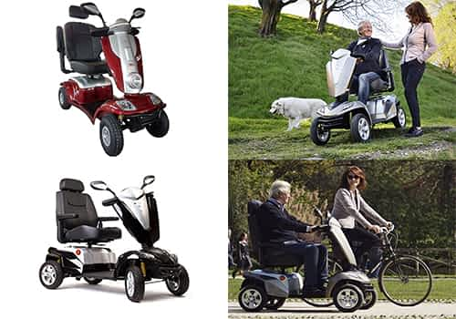 Aperçu des modèles scooters électriques senior, pour personne handicapée et à mobilité réduite dans la catégorie Large & Routier à 4 roues