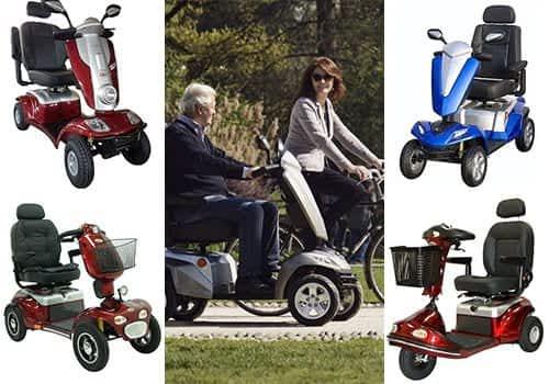Aperçu des modèles scooter senior, pour personne à mobilité réduite et handicapée dans la catégorie large & routier