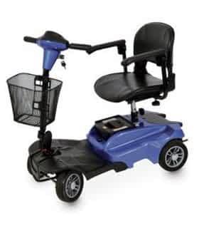 Scooter électrique handicapé et de mobilité réduite Drive DeVilbiss Dupont Tee en bleu