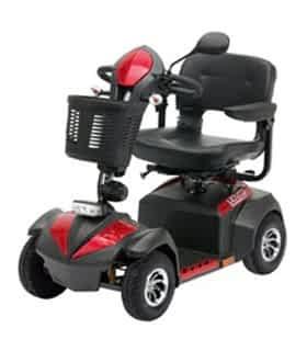 Scooter électrique de mobilité réduite Drive DeVilbiss Envoy 6 en rouge