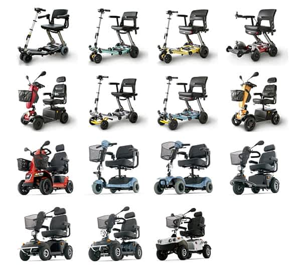 La gamme des scooters électriques et des pièces de rechange de Freerider, Luggie et Mango Mobility disponible sur le site Kingmobilité
