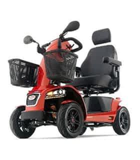 Scooter électrique handicapé Freerider FR1 en rouge