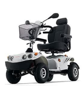 Scooter électrique handicapé Freerider Lion 4 en gris argent