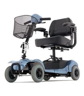 Scooter électrique pour personne handicapée et âgée Cat 4 en bleu