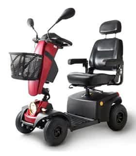 Scooter électrique pour handicapé Freerider Panther 4 Premium  en rouge