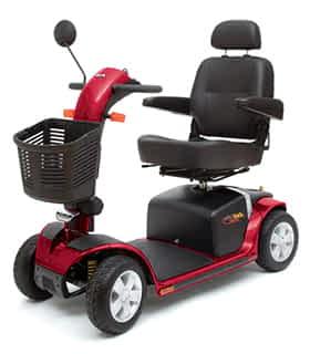 Scooter électrique de mobilité réduite Indépendance Royale Maxi en rouge