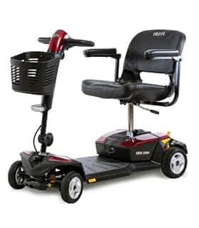 Scooter électrique pour personne handicapée Indépendance Royale Royal Mini en rouge