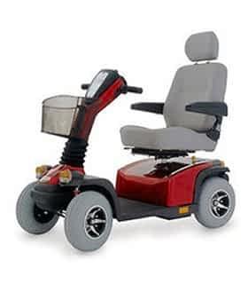 Scooter électrique handicapé et de mobilité réduite Indépendance Royale Royal XL en rouge