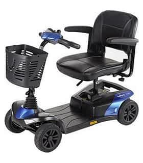 Scooter électrique handicapé et de mobilité réduite Invacare Colibri indoor en bleu