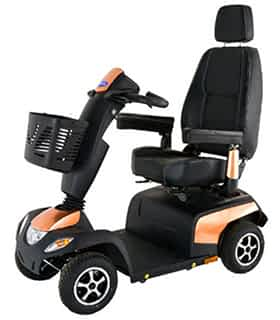 Scooter électrique de mobilité réduite et handicapé Invacare Orion Pro en cuivre