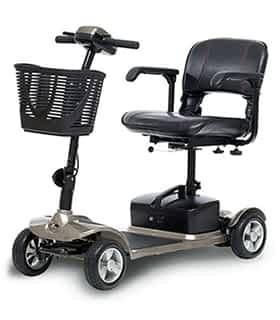 Scooter électrique handicapé et de mobilité réduite Kymco K-Lite en champagne