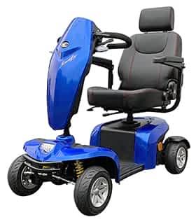 Scooter électrique de mobilité réduite Kymco Komfy en blue