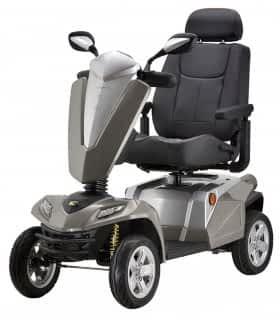 Scooter électrique de mobilité réduite et handicapé Kymco Maxer en champagne