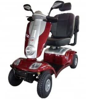 Scooter électrique handicapé et de mobilité réduite Kymco Maxi XLS en rouge