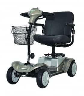 Scooter électrique pour handicapé et mobilité réduite Kymco Mini LS en champagne