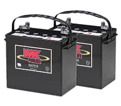 Deux batteries 55Ah AGM de MK Battery pour le scooter handicapé Kymco Maxi