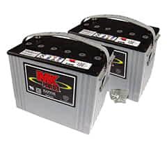 Deux batteries 79Ah AGM de MK Battery pour le scooter électrique Pride Ranger, Wrangler et Zolar