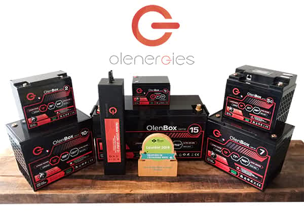 La gamme de batteries et chargeurs lithium LiFePO4 d'Olenergies disponible sur le site KingMobilité