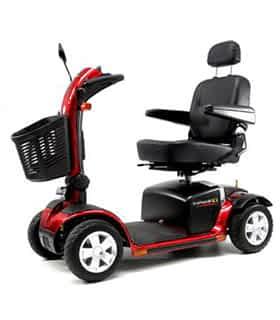 Scooter électrique de mobilité réduite Practicomfort Beaufort 13 en rouge