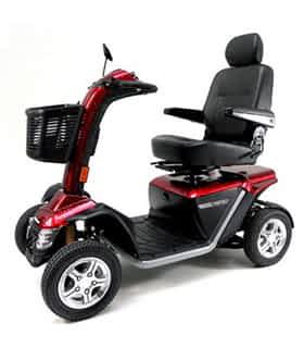 Scooter électrique handicapé Practicomfort Hurricane 25 en rouge