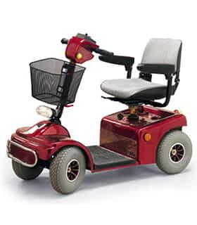 Scooter électrique handicapé Practicomfort Jive 2 en rouge