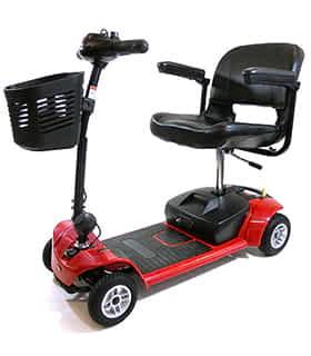 Scooter électrique handicapé et de mobilité réduite Practicomfort Beaufort 4 en rouge