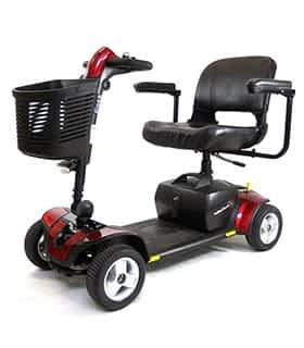 Scooter électrique handicapé Practicomfort Beaufort 6 en rouge