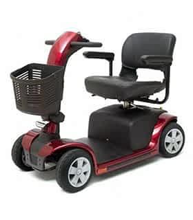 Scooter électrique handicapé Practicomfort Beaufort 7 en rouge