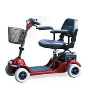 Scooter électrique handicapé et de mobilité réduite Practicomfort Mobigo F24 en rouge