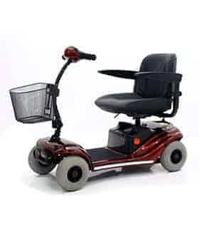 Scooter électrique handicapé PMR Practicomfort Rumba XL en rouge
