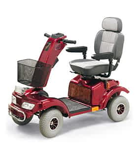 Scooter électrique handicapé Practicomfort Tango en rouge