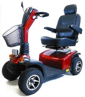 Scooter électrique de mobilité réduite Practicomfort Cyclone 15 en rouge