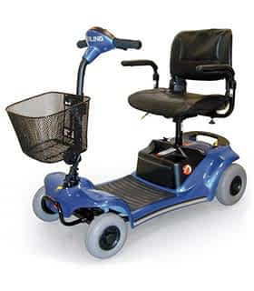 Scooter électrique handicapé et senior Practicomfort Rumba en bleu