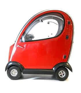 Scooter électrique handicapé avec cabine Practicomfort Smart 2 en rouge