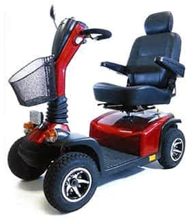 Scooter électrique handicapé Practicomfort Wals 15 en rouge