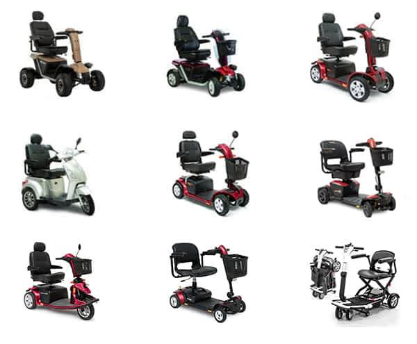 La gamme des scooters électriques et des pièces de rechange de Pride Mobility disponible sur le site Kingmobilité