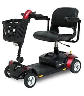 Scooter électrique handicapé et de mobilité réduite Pride Elite Traveller LX en rouge