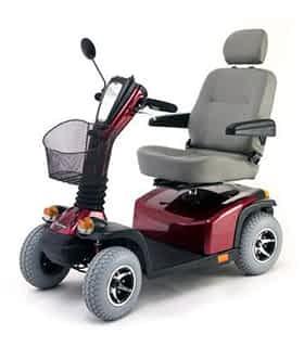 Scooter électrique handicapé Pride Hurricane en rouge