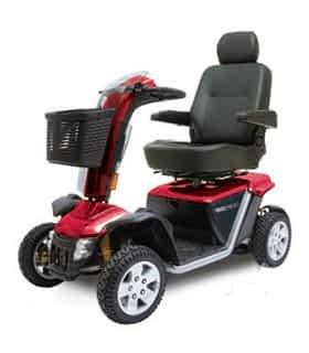 Scooter électrique de mobilité réduite et handicapé Pride XL 140 en rouge
