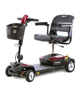 Scooter électrique pour handicapé et mobilité réduite Pride GoGo LX CTS en rouge