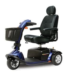 Scooter électrique de mobilité réduite et handicapé Pride Lunetta Voctory en bleu