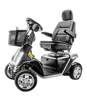 Scooter électrique handicapé Pride Pursuit 36V en rouge