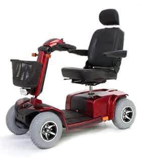 Scooter électrique de mobilité réduite Pride Celebrity XL en rouge
