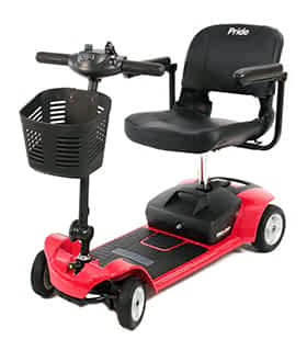 Scooter électrique handicapé et de mobilité réduite Pride GoGo Ultra-X en rouge
